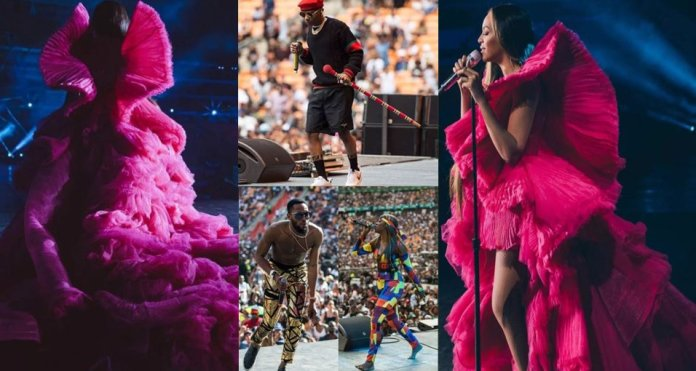 Beyonce, Tiwa Savage, Wizkid & Cassper Nyorvest light up stage at Global Citizen Festival in SA