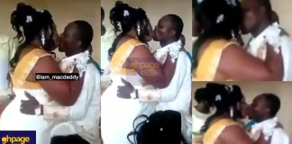 Couple breaks the internet with a 'wild' kiss on their wedding day