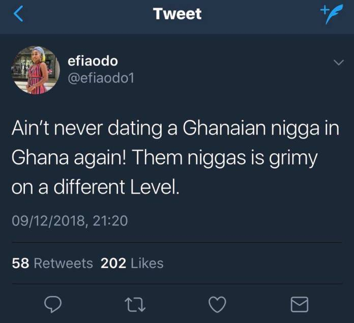Efia Odo vows never to date a Ghanaian man again