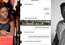 Leaked message between Medikal and his side chic pops up on social media
