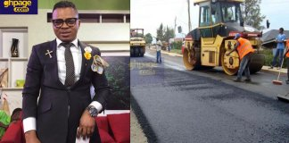 The founder and leader of the International Godsway Church, Bishop Daniel Obinim is constructing a major road in Kumasi.