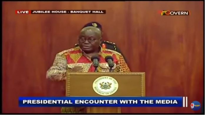 President Akufo-Addo meets his meter as he answers hot questions from the press
