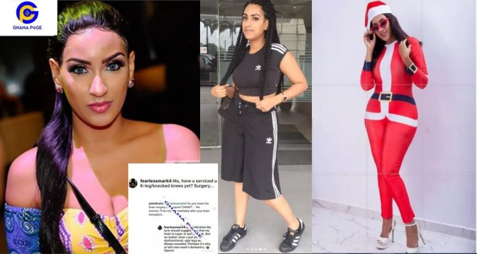 fan fights Juliet Ibrahim on social media