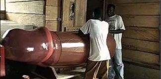 Ghanaian carpenter makes Pen¥s-shaped coffin for womanizers