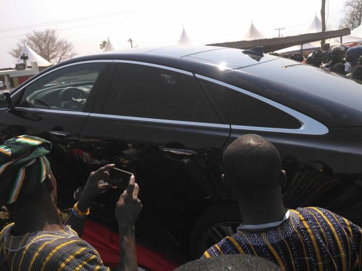 Nana Addo's customized Jaguar gift for Yaa-Naa