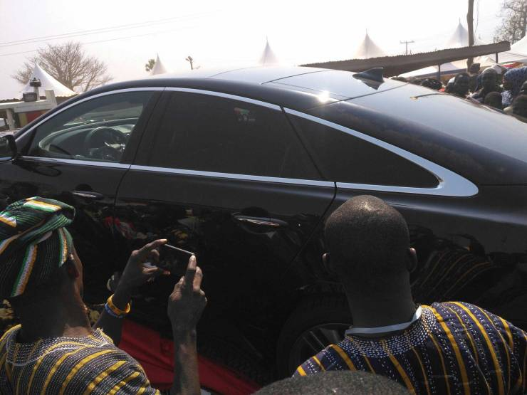 Nana Addo's customized Jaguar gift for Yaa-Naa