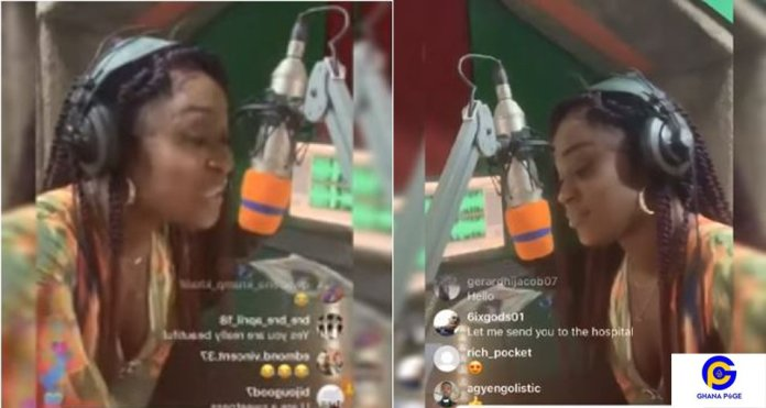 Efia Odo turns rapper; composes a diss song for all 'fork' boys