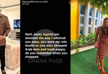 Snapchat blogger accuses Jackie Appiah of sleeping with Hushpuppi