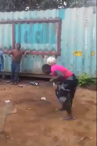 Donald Trump reacts to viral video of African lady joggling football