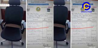 Executive Secretary of Narcotic Control Board allegedly buys office chair for 102 Million Cedis