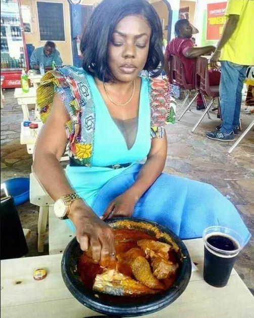 Nana Aba Anamoah breaks the internet with heavy Fufu she ordered