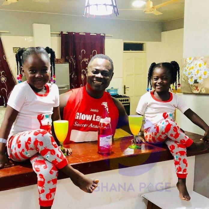 Odartey Lamptey twin daughters - Odartey Lamptey flaunts his beautiful twin daughters on social media