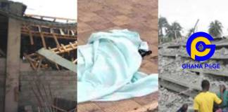 Ashanti Region: Building collapses at Atwima Agogo-Kills 2 years old boy in the process [Photos]