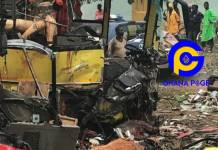 2 Dead in a new accident on Accra-Kumasi highway: Cargo car crashed into a truck carrying weed