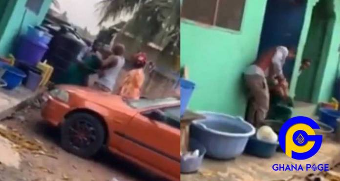 Video:Man beats & drags 3 months pregnant wife on the floor for allegedly destroying his land docs
