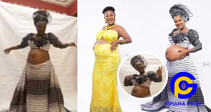 Mcbrown releases video dancing with her baby bump to praise God with Diana Hamilton's
