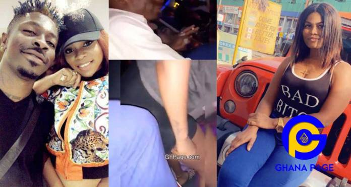 Watch: Video of lady who broke up Michy & Shatta Wale giving Wale a lap dance at the club pops up