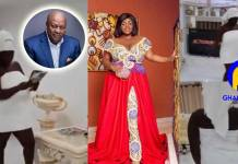 Video: Tracey Boakye displays the magnificent bedroom of the house allegedly bought for her by JM