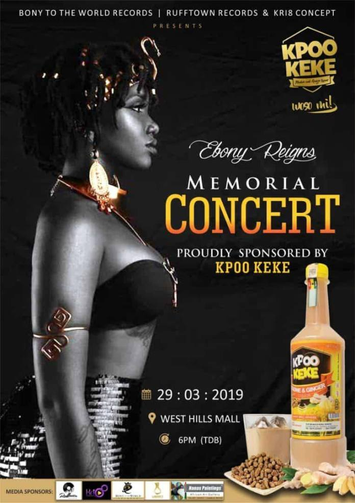 Ebony - We have regretted sponsoring Ebony's 1 year anniversary concert – Kpoo Keke boss
