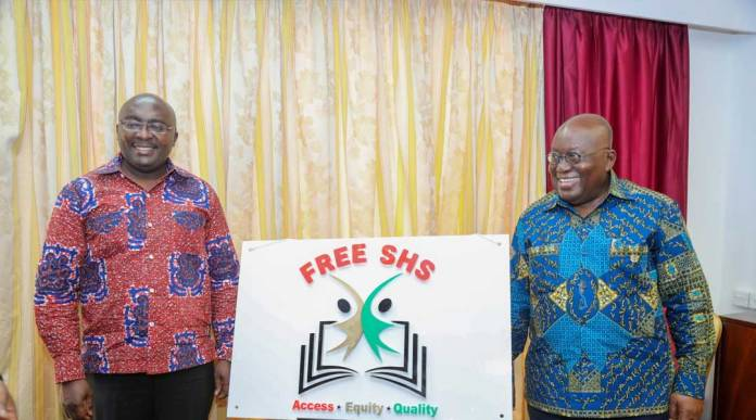 Bawumia and Nana Addo introducing the FREE SHS