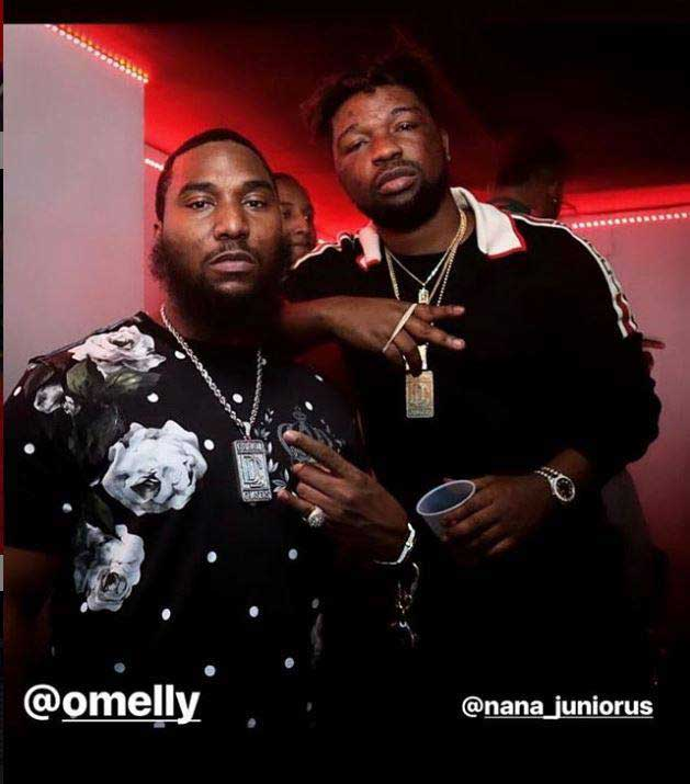 Junior Omelly - Photos of Junior US chilling with Meek Mill,Omelly, other US stars pop up