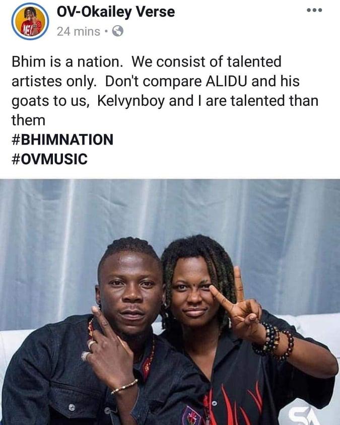 OV - Kelvynboy and myself are talented than Alidu and his goats – OV