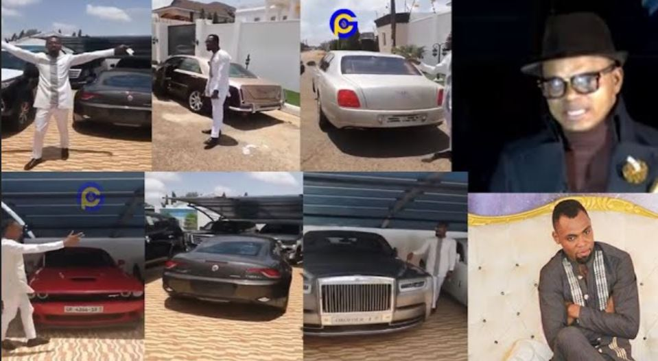 Obofour fleets of cars - Rev. Obofour shows off his fleet of cars