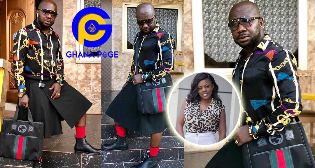Richard Brown Osebo - Photos of Nana Aba's baby daddy Osebo stylishly roaming town wearing skirt & shirt again go viral