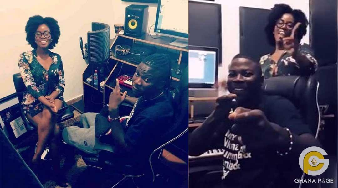Stonebwoy and Mzvee - Mzvee hits the studio to record with Stonebwoy
