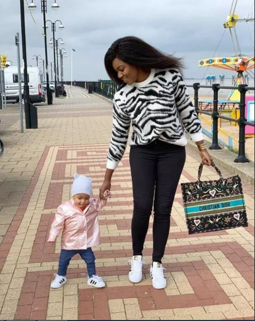 Yvonne Nelson and daughter - Yvonne Nelson deletes all photos of her daughter on social media