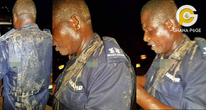 Photos: Angry woman pours hot palm nut soup on the Praso Police Commander
