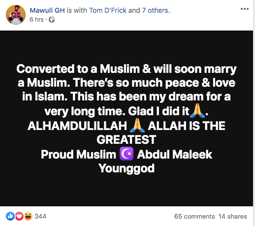 Just 3 reasons why AMG Mawuli YoungGod became a Muslim 2