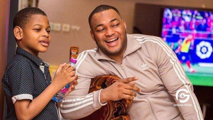 Kwadwo Safo Jnr and son