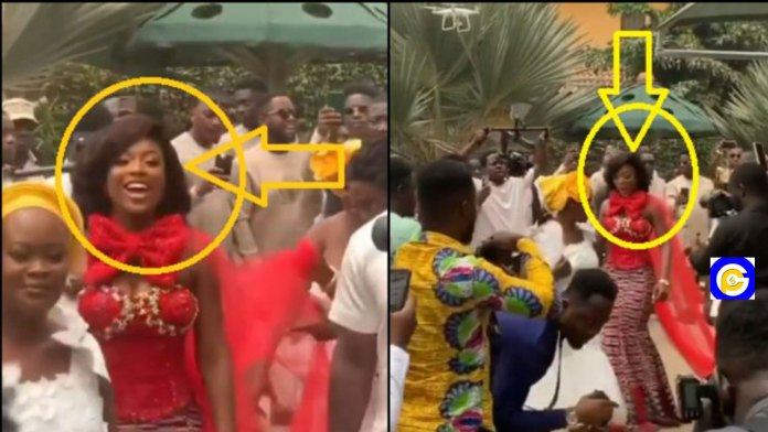 Kennedy-Osei's-pretty-wife,--Tracy-shows-off-her-dancing-skills-at-her-Traditional-Wedding-(Video)