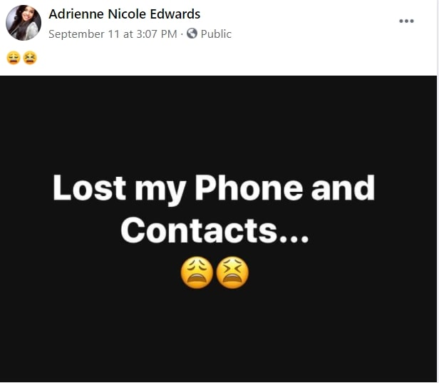 Nicole lost her phone