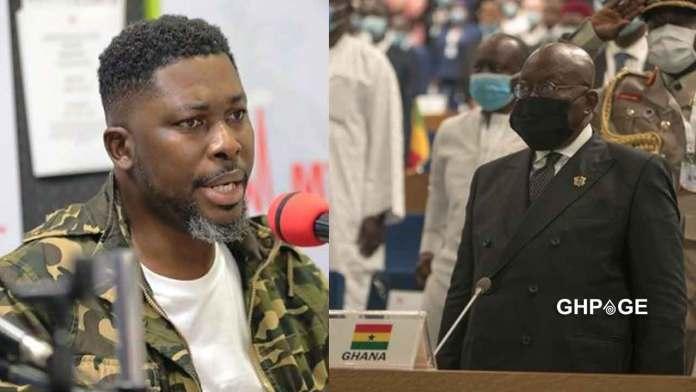 Kwame A Plus(L) Preisdent Akufo-Addo(R)