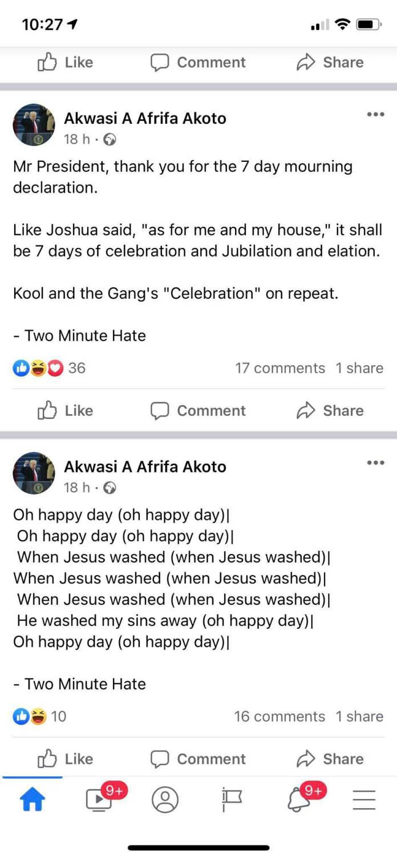 General Afrifa's son happy JJ Rawling is dead