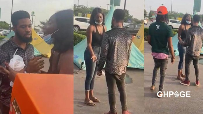 Lady embarrasses a guy at the mall for stealing her money