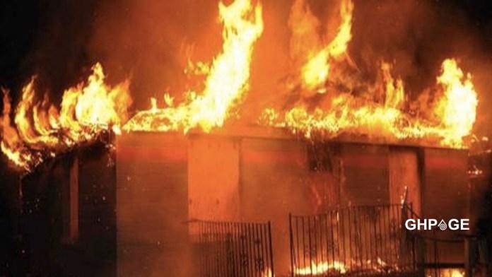 NPP's Ejisu Chairman's house razed down by fire