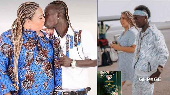 Wedding invitation card of Patapaa and German girlfriend, Miller hits online