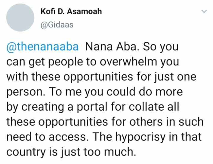 nana aba lauded