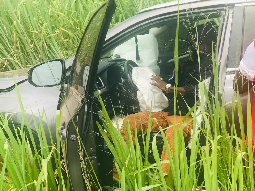 Kwabena Kwabena involved in accident on Kumasi Highway 1