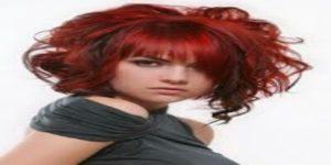 تسريحة شعر احمر