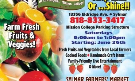 Local Farmers' Market – Saturdays starting June 26