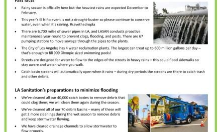 El Niño Wet Weather Preparedness: WE'RE READY… ARE YOU?