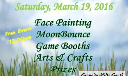 Granada Hills Spring Egg Hunt – Saturday, March 19