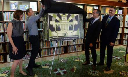 Mayor Garcetti & Artist Shepard Fairey, Renowned for his Obama HOPE Portrait, Unveil L.A.'s First Artist-Designed Library Card