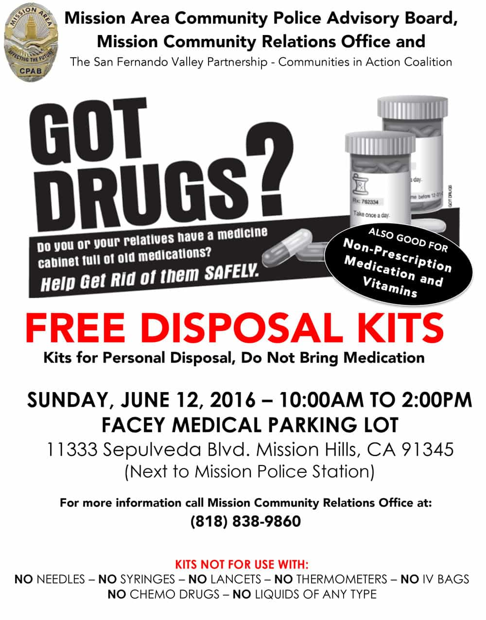 Got Unused Medications?