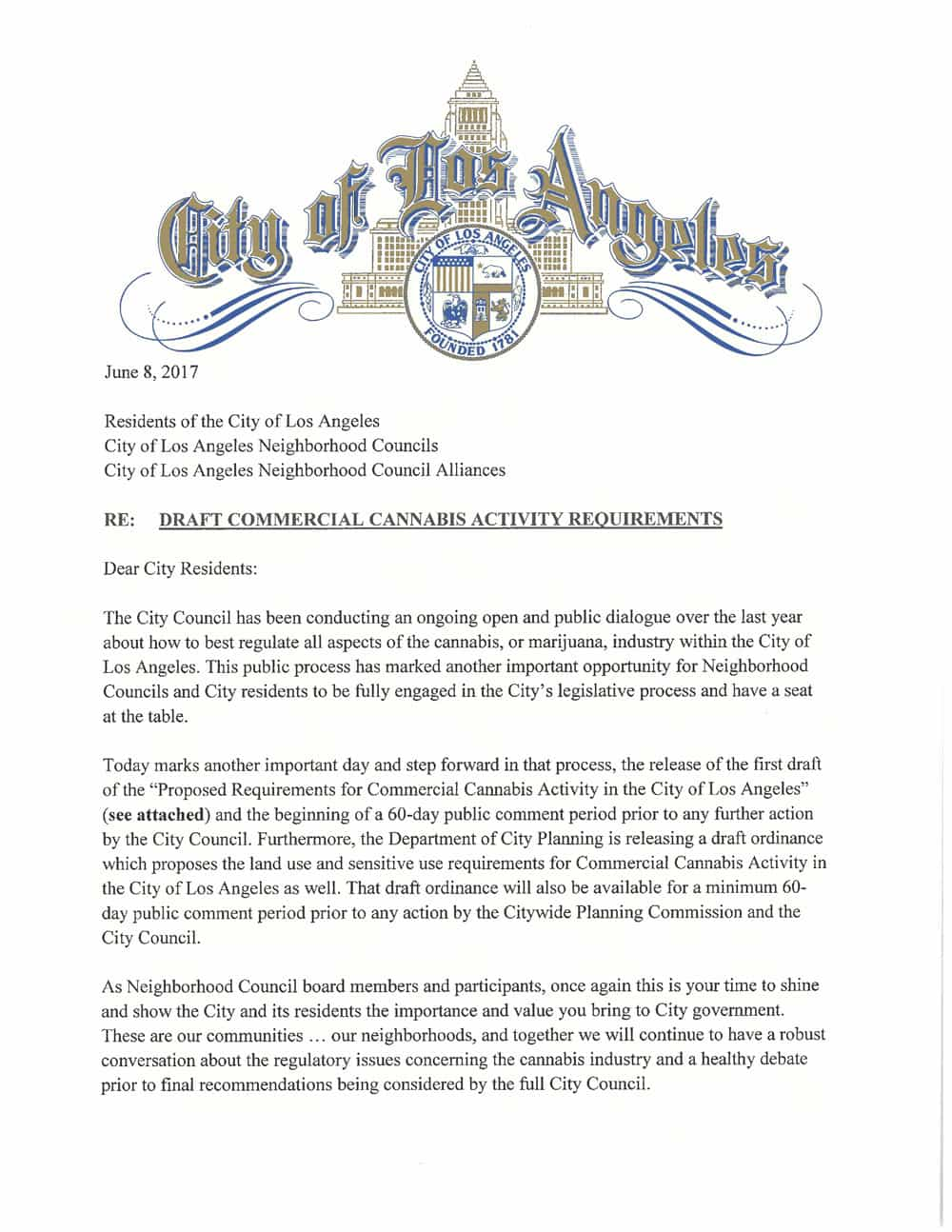 City of Los Angeles Releases Much Anticipated Draft Cannabis Regulations