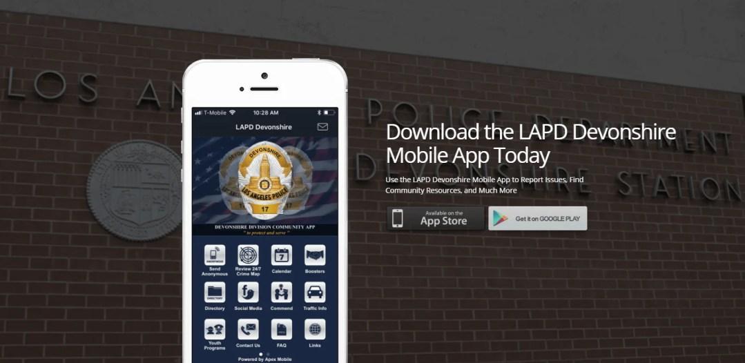 Download the New LAPD Devonshire App